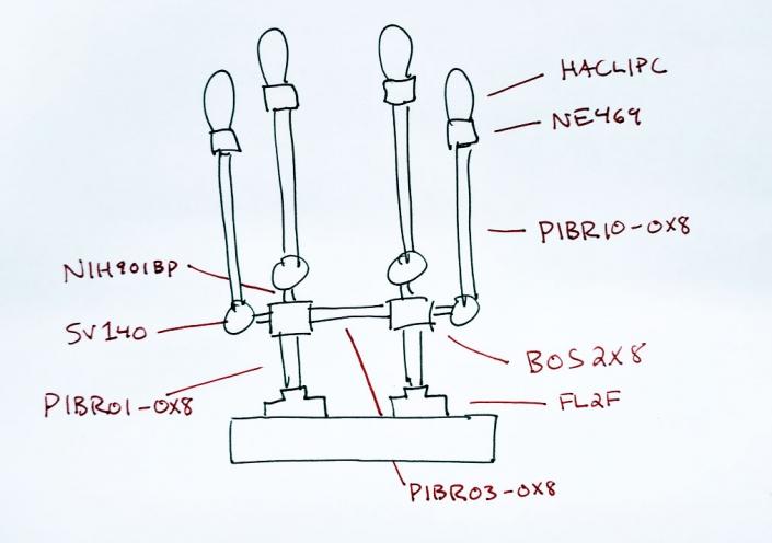 Brass envelope holder design