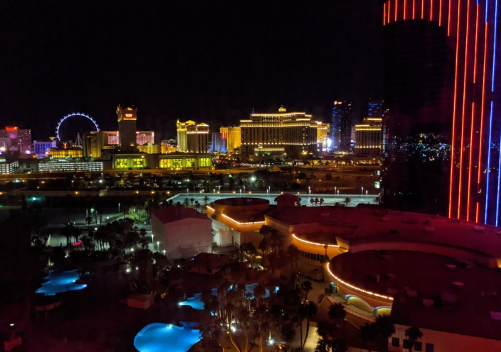 Peter Wood's view from the Rio All-Suites Hotel & Casino during production of Penn & Teller: Fool Us